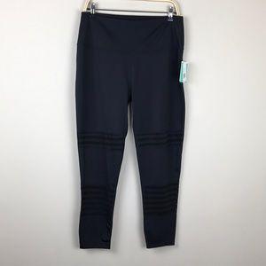 Beyond Yoga Pants - Beyond Yoga Black Mesh Insert Legging 2X High Rise